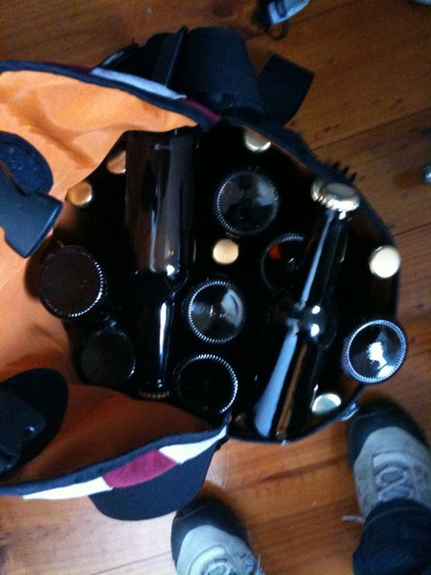 oh yeah. a case of homebrew in a Crumpler bag. it was meant to be.